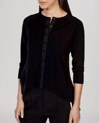 Karen Millen Cardigan - Contrast Back black - Lyst