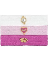 Juicy Couture | Set Of 3 Flat Charmy Hair Elastics | Lyst