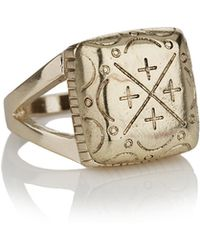 Topman Engraved Victory Ring - Lyst
