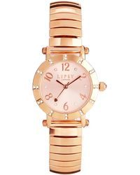 Lipsy - Gold Diamond Dial Watch - Lyst