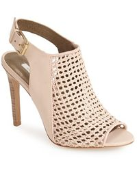 Cynthia Vincent 'francine' Basket Woven Leather Sandal - Natural