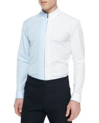 Maison Margiela Bicolor Zipper-Down Shirt - Lyst
