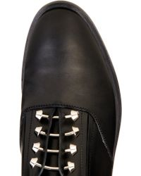 Balenciaga Pierce Leather Derby Slip-Ons - Black