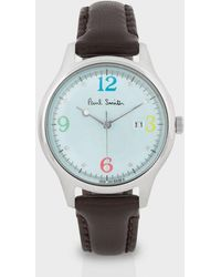Paul Smith - Turquoise and Brown City Watch - Lyst