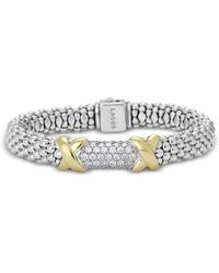 Lagos - Diamond Lux 18k Gold And Sterling Silver Pavé Medium Rope Bracelet - Lyst