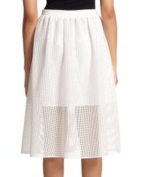 Clover Canyon   Square Mesh Skirt   Lyst