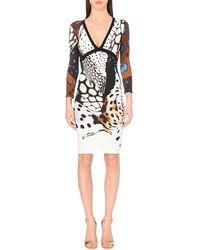 Roberto Cavalli Abstract-Print Dress - For Women - Lyst