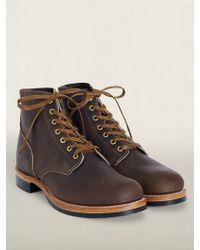 RRL Leather Boondocker Boot - Lyst
