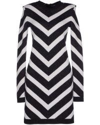 Balmain Short Dress black - Lyst