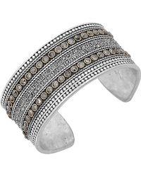 Lucky Brand Pave Dream Cuff Bracelet - Metallic