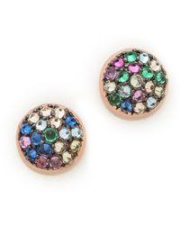 Katie Rowland - Java Mini Stud Earrings Multi - Lyst