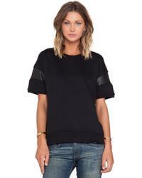 Rag & Bone Black Lira Fleece - Lyst