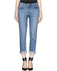 Theory Jordin Crop Boyfriend Jeans - Blue