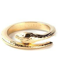 Isabel Marant Gold Snake Ring - Lyst