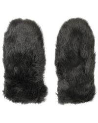 TOPSHOP - Faux Fur Handwarmers - Lyst