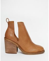 Windsor Smith Sharni Tan Leather Cut Out Ankle Boots - Brown