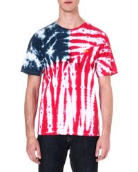 Obey Americana Flag Tie-dye T-shirt - For Men - Lyst