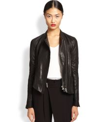 Helmut Lang Blistered Leather Jacket - Lyst