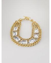 Lauren by Ralph Lauren Large-stones Chain Necklace - Lyst