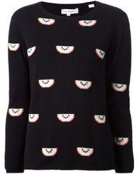 Chinti & Parker Watermelon Print Sweater black - Lyst