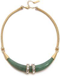 Rachel Zoe - Safari Horn Collar Necklace - Lyst