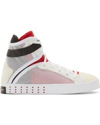 Y-3 White Laver High_Top Sneakers - Lyst
