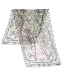 Etro | Multi-floral Dhely Silk & Nylon Scarf | Lyst