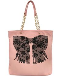Betsey Johnson Flock A Bows Tote Bag - Lyst