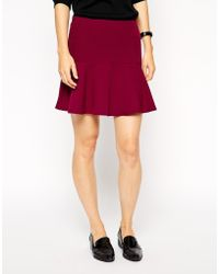 Asos Mini Skater Skirt In Crepe - Lyst