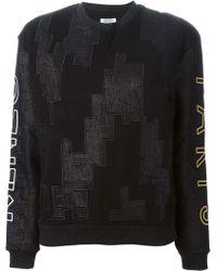 Kenzo Black Embroidered Sweatshirt - Lyst