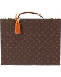 Louis Vuitton Brown Monogram Attache Case - Lyst