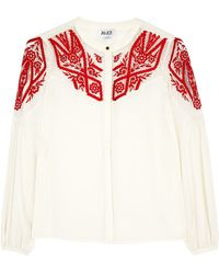 Alice By Temperley Dawn Lace Insert Blouse - Lyst
