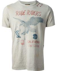 Rude Riders - Eagle Print Tshirt - Lyst