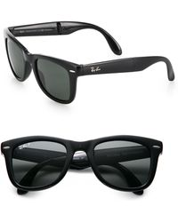 Ray-Ban Folding 50Mm Wayfarer Sunglasses - Lyst