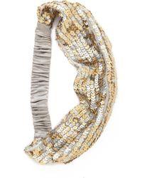 Eugenia Kim Daniella Silk Headband - Mixed Metallic - Lyst
