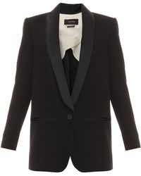 Isabel Marant Lahore Blazer with Satin Lapel - Lyst