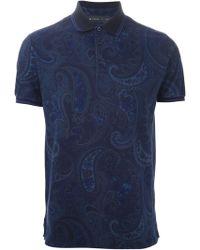 Etro Paisley-Print Polo Shirt - Lyst