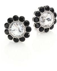 Miu Miu | Swarovski Crystal Clip-on Earrings | Lyst
