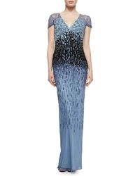 Pamella Roland Ombre Graduated Sequined Gown - Lyst