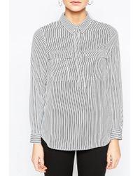 Oasis | Vertical Stripe Shirt | Lyst