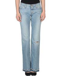 D&G Blue Denim Pants - Lyst