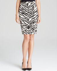 Moschino Cheap & Chic Skirt - Tiger Print Crepe Pencil - Lyst
