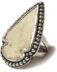 Pamela Love Cream Arrowhead Ring - Size 5 - Lyst