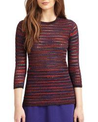 M Missoni Open-stitch Knit Top - Lyst