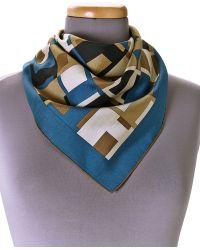 Hermes Hermãs Blue Foulard Scarf - Lyst