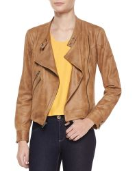 Waverly Grey - Morgan Draped Fauxleather Jacket - Lyst