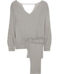 Eberjey Sadie Striped Stretchjersey Pajama Set - Lyst