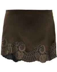 Vanessa Bruno Birmingham Lacetrimmed Mini Skirt - Lyst