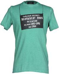 DSquared² T-Shirt green - Lyst