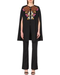 Emilio Pucci - Embroidered Crepe Cape - For Women - Lyst